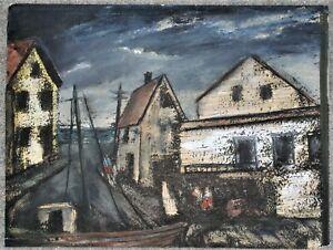 John Costigan Painting of a Fishing Dock