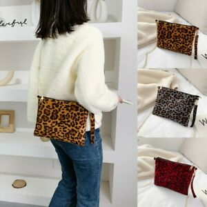 Fashion Women Lady Leopard Printing HandBag Phone Bag Shoulder Bag Messenger Bag