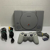 Sony PlayStation 1 Console with Controller and Cords (SCPH-7501) TESTED & CLEAN!