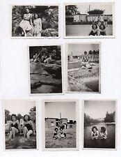 Lot 7 PHOTOS PHOTO Deux Femmes Maillot de bain Vacances Jumelle Femme 1949