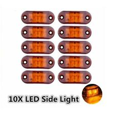 10x Amber LED Light Oval Clearance Trailer Car Truck Side Marker Lamp 12V or 24V