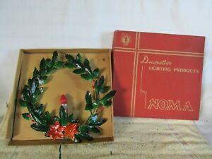 Vintage Noma Wreath, Holly, Christmas Decoration with Box, for Restoration