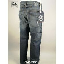 Jeans uomo Roy Rogers Riky Denim 12 oz Loose fit con tasconi e cinturino vintage