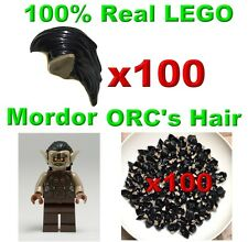 LEGO HOBBIT MORDOR HUNTER ORC MINIFIGURE HAIR DARK TAN EARS PATTERM 100X GENUINE