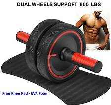 Ab Roller Wheel 800 Lbs Knee Pad Abdominal Exercise Home Gym Fitness Equipment