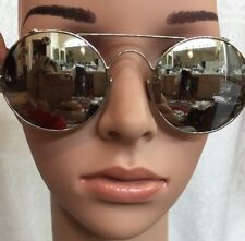 Linda Farrow Sunglasses Round Mirror Cat3 Silver Frame And Arms