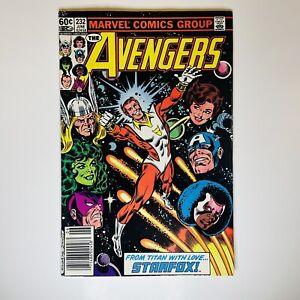 Avengers #232 Newsstand KEY Starfox Eros Joins The Avengers VF/NM Harry Styles!