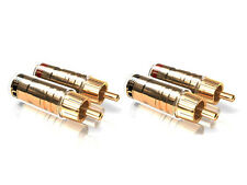 4 x ViaBlue TS Cinch Jack Gold Plated 30512 RCA Phono Connector