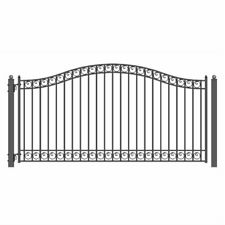 ALEKO Dublin Style Ornamental Iron Wrought Single Swing 12' Driveway Gate