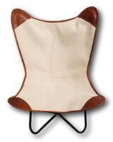 Retro Vintage Lounge Butterfly Relax Stuhl Sessel Relaxstuhl Canvas Leder Bezug