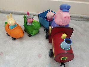 Peppa Pig Grandpa Train Richard Rabbit Carrot George Pig Dinosaur cars