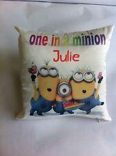 ONE IN A MINION cushions gift birthday/christening/wedding/VALENTINES/