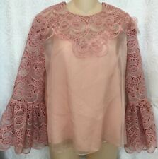 Fendi Laos pink Cajon embroidered sleeves/camisole NWT $2450 size small 40