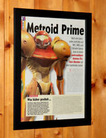 Metroid Prime Rare Small Poster / Old Ad Page Framed Nintendo GameCube