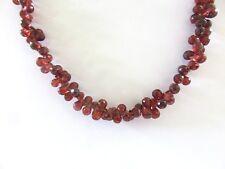 Granat facett. Tropfen Kette 46-52 cm 925 Silber Garnet necklace K5018