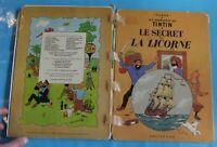 Ancienne Bd les Aventures de Tintin le secret de la Licorne B39 1970/71