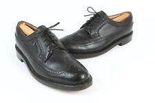 Vtg Florsheim Wingtips Black Leather 5 Nail V Cleat Dress Shoes Usa Mens 9.5 D