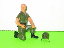 Vintage US Army 3in. Jointed figure lot with helmet Hong Kong 60's 70's unknown