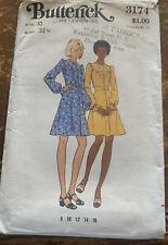 Vintage Butterick Dress Pattern #3174 Size 10 Cut