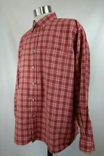 Bimini Bay Outfitters Mens Size XXL Red Plaid Long Sleeve Button Shirt Cotton