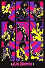 Jimi Hendrix 60's -70's Blacklight Jimi Hendrix Art Sticker, Magnet