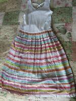 EUC GAP Kids Girls Multi Color Stripe Dress Size L 10