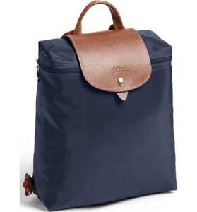 Longchamp Le Pliage Nylon Foldable Backpack ~NIP~ Navy