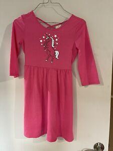Girls Justice Pink Unicorn Dress Size 10 NWT
