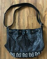 DISNEY Parks Authentic Minnie Mouse Black Handbag/Purse