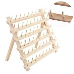 60 Spool Wood Sewing Thread Stand Organizer Craft Embroidery Rack Tailor Holder