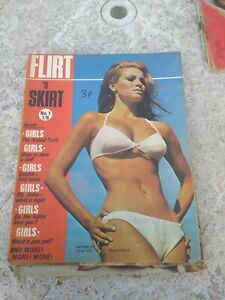 RAQUEL WELCH flirt 'n skirt glamour photography no 1 magazine cover girls 1960's