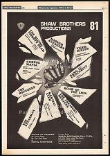 SHAW BROTHERS__Original 1981 Trade Print AD/ promo poster__Corpse Mania_Spearman
