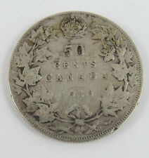 P-21 CANADA 1910 50 CENTS KING EDWARDS VII SEE PICTURES