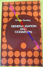 book libro Dmitry Gorsky GENERALISATION AND COGNITION 1987 PROGRESS (L38)