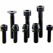 4Pcs  M6 x18/20/30/35mm BLACK Titanium Bolts Screws
