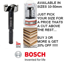 BOSCH Forstner Hinge Hole Boring Cutter Wood Drill Bit Sizes Available 10mm-50mm