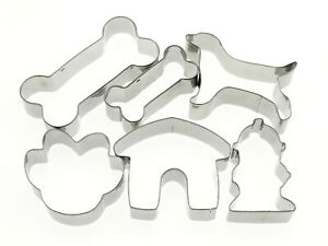 Dog Theme Cookie Cutter Bone Kennel Paw Fire Hydrant Dog Biscuit Metal set