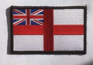 Royal Navy, White Ensign embroidered cloth badge patch. Iron or sew on patch