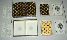 LOUIS VUITTON PLAYING CARDS 1972 Carte da gioco Poker BOX Heron France