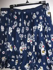 Pleated Knee-Length Floral Regular Size Skirts for Women