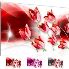 Wandbilder Wohnzimmer - Blumen Tulpen Schlafzimmer - Vlies Leinwand Bild Modern