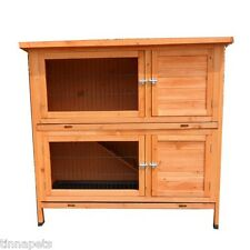 XLarge Double Story Rabbit House Chook Hutch Cage with double trays T045