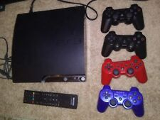 SONY PLAYSTATION 3 SLIM PS3 160GB CECH2501A console 8 GAMES 4 controllers BUNDLE