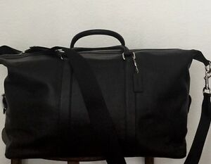 COACH Mens Leather Voyager 52 Duffle in Black Large F93469, F54802 NWT MSRP$795
