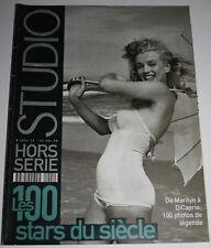 1989 STUDIO Magazine 100 STARS DU SIECLE Black/White Photos Hollywood Portraits