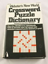 Webster's New World Crossword Puzzle Dictionary by Whitfield 1976  Indexed u3o45