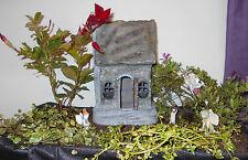 "Miniature Garden Fairy Gnome Hawthorn House 10"" High Door Opens"