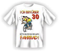 FUN T-SHIRT 30 Geburtstag Fahrrad  Geschenk Party weiß   Gr. M   NEU   1332