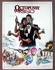 James Bond- OCTOPUSSY Original  Movie  Program Book (G8330-MH )