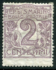 SAN MARINO # 40 Fine Light Hinged Issue - NUMERIC VALUE ON STAMP - S6097